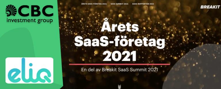 Eliq får miljöpris och nomineras till Årets SaaS-företag