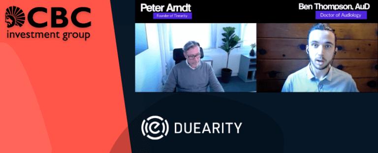 Duearity-grundaren intervjuas av branschprofil om att motverka tinnitus