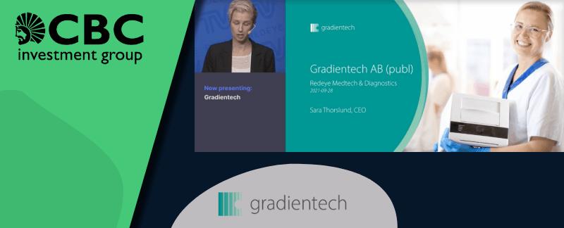 Gradientech presenterar på Redeye Medtech & Diagnostic Day 2021 inför börsnotering